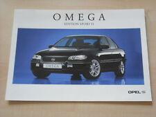 51858) Opel Omega B Edition Sport II Prospekt 10/1997