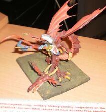 Warhammer Fantasy High Elf Lord on CONVERTED  Dragon  CUSTOM