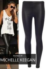 Full Length Wet Look Cotton Blend Leggings for Women