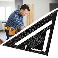 7 inch 12 inch Triangle Angle Woodworking Ruler Measuring Ruler Metric/Inch Tool