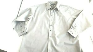 Joseph & Feiss  No iron dress shirt tall size 19 36/37 gray men's