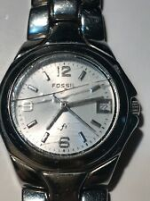 VINTAGE WOMENS FOSSIL F2 QUARTZ WATCH DATE Working New Battery