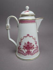 Höchst Heinrich Porzellan Classic Athene Purpur Kaffeekanne ca 23,3 cm H