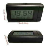 2 in 1 LED Digital Car Time Clocks Thermometer Temperatures LCD Auto I4G8