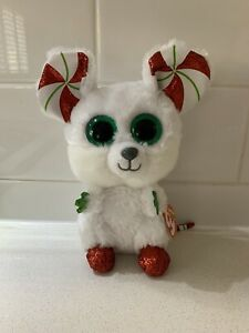 """Chimney Mouse 6"""" 15cm Tagged Christmas Ty Beanie Boos"""
