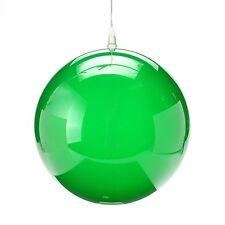 "8"" Green LED Holographic Globe: Battery Operated: Garden Light, Christmas Ball"
