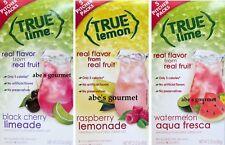 True Lemon/Lime Variety Pack, Watermelon, Black Cherry Lime., Raspberry Lemonade
