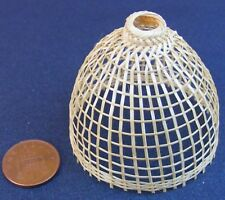 1:12 Scale Single Large Bamboo Basket Tumdee Dolls House Garden Pet Accessory Pl