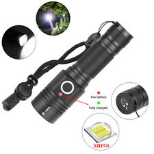 80000 Lumens Flashlight Torch Zoomable XHP50 LED 4 Modes  Camping Lampe 1x18650