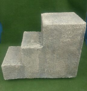 Reproduction mounting block made to look like old stone