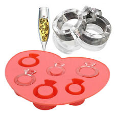 Bac de glace strass love ring Ice Cube style gel moule glace Ice Maker Moule