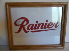 "Rainier Beer Logo Sign Picture  11"" X 9"" wood frame"