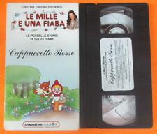 VHS film cartonata CAPPUCCETTO ROSSO mille fiaba CRISTINA D'AVENA (F107) no dvd
