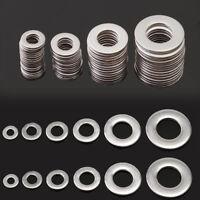 105pcs Stainless Steel Washers Silver Metric Flat Washer Kit M3 M4 M5 M6 M8 M10