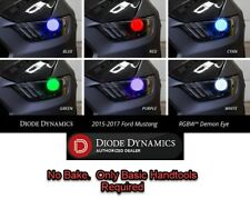 Pair LED Demon Eye Inserts for 2015-2017 Ford Mustang (Multi Color W/ Bluetooth)
