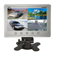 "PYLE PLHRQD9W 9"" LCD Car/Home Video Headrest Monitor Four Video Inputs Stand"
