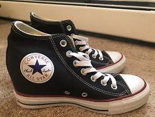 Women's Black Converse Sneakers Wedges