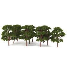 10x Dark Green Banyan Tree Model Train Railway Park Scenery Landscape Layout