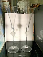 VERSACE CHAMPAGNE FLUTE SET of 2 Rosenthal NEW WEDDING GIFT IDEA SALE