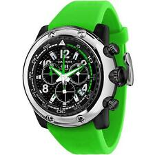 GLAM ROCK MEN'S MIAMI BEACH 50MM GREEN SILICONE BAND QUARTZ WATCH GR20144