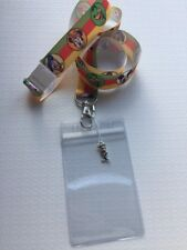 Disney Lanyard Mickey And Friends ID PassHolder With Charm And Safety Clip *UK*