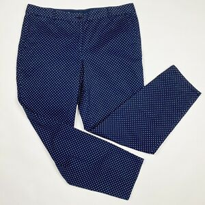 TALBOTS Navy Blue Polka Dot The Weekend Chino Pants - Size 14
