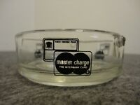 "1960s MASTER CHARGE ""THE INTERBANK CARD"" FIRST CHARGE PLAN GLASS ASHTRAY- UNUSED"