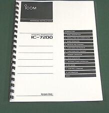 Icom IC-7200 Advanced Instruction Manual: Premium Card Stock Covers, 32 LB Paper