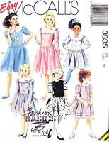 McCall's Girl's Dress with Gathered Skirt #3835 Size 14 New Uncut Easy