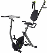 Stamina WIRK Ride EXERCISE BIKE+Upper Body STRENGTH SYSTEM Standing Desk laptop