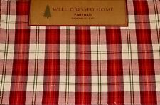 Well Dressed Home Set 4 ADIRONDACK LODGE TARTAN PLACEMATS NEW Holiday Xmas Red
