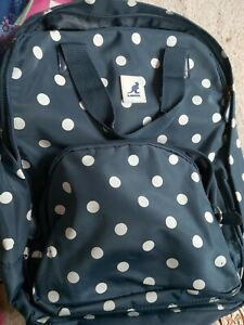 Kangol Navy Blue Polka Dot Backpack Rucksack Used!!