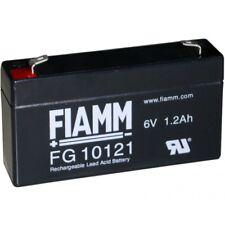 BATTERIA FIAMM FG10121 6V 1,2A PIOMBO GEL ERMETICA LAMPADA EMERGENZA ANTIFURTO