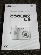 Nikon COOLPIX L6 Owners Manual Instructions Use Care Guide Espanol Spanish ONLY