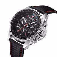MEGIR Waterproof Men's Stainless Steel Analog Sports Quartz Military Wrist Watch