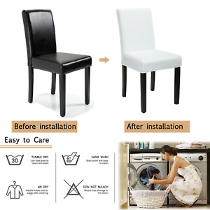 4/6/8Pcs Dining Chair Covers Slipcovers Stretch Elastic Washable Wedding Banquet