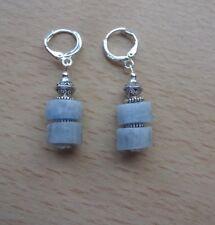 Genuine natural AQUAMARINE [beryl] 'AA'  drop  EAR RINGS St Silver Gift wrapped