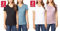 32 Degrees Cool Women's Short Sleeve Scoop Neck T-Shirt 2-Pack