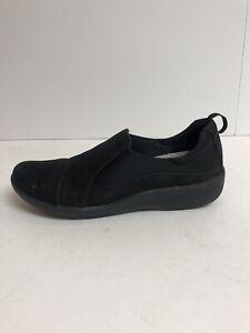 Clarks Sillian Paz Black Slip On Shoes Women's Size 6.5M Cloudstepper