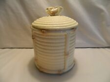 Vintage 1981 Fitz & Floyd Bamboo Look Porcelain Sugar Canister