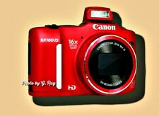 CANON SX160 IS RED MECHANICALLY RECONDITIONED-STABILIZATION REDUCES HAND SHAKE
