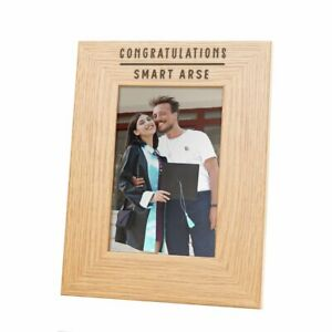 """Congratulations Smart A*se"" Photo Frame - Funny Graduation Leaving Work Gifts"