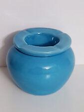 Aschenbecher / Windaschenbecher / Sturmaschenbecher Ascher blau Keramik Garten