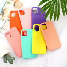 For iPhone 11 Pro MAX XS XR X 8 7+ Candy Color Silicone Soft Slim TPU Case Cover