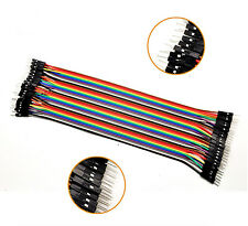 NEW 40pcs Dupont wire cable 1p-1p male to male connector 2.54mm 20cm arduino