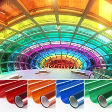 Transparent Colourful Window Film Sticker Tint Self Adhesive Glass Decor Anti-UV