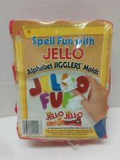 Jello Alphabet Jigglers Molds ABC Capital Jiggle Letters Spell Out Make Words