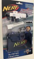 Nerf Gun Keychain Keyring On The Go Mini Blaster Kids Play Toy Boy Blue White 4m