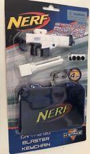 Nerf Gun Keychain Keyring On The Go Mini Blaster Kids Play Toy Boy Blue White 4m