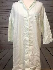 Miss Elaine Women's Small Sleep Shirt Pajama Nightgown Long Gown Green Lace